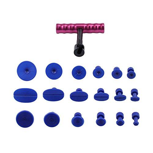 AUTOUTLET Auto Dellen Reparatur Set, Paintless Dent Removal Ausbeulwerkzeug, DIY Repair Puller Kit, Remover Tool für Fahrzeug Dellen, Tür Dings und Hagel Schäden Entferne -