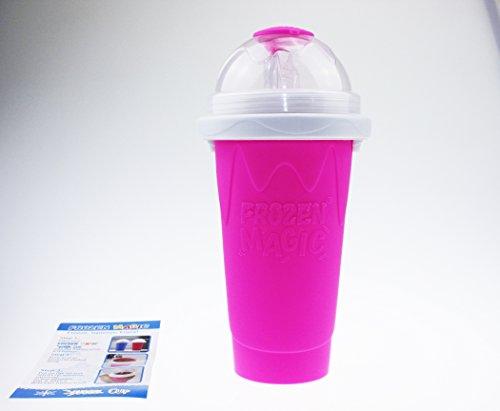 Squeeze Cup Slushy Maker - Magic Becher Slushy Eis zum selbst machen - Magenta [ARTUROLUDWIG]