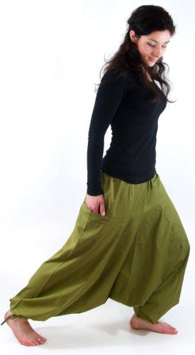 Afghani, Hose, Haremshose, Pluderhose, Pumphose, Aladinhose in 9 Farben / Pluderhosen und Aladinhosen Grün
