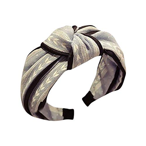 LUGOW Damen Yoga Stirnbänder Elastic Nettes Turban Geknotetes Bandanas Turban Head Wraps Hair Beads Breit Haarbänder Haarreife Haarspangen Haargummis Haarschmuck(Z04191-Blau)