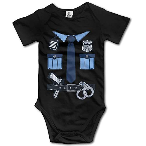 Baby Onesie Girl Boy Outfit Baby Bodysuit Jumpsuit Creeper Short Sleeve Police Uniform Gear 2 T Snap Cookie Cutters