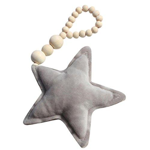Welcher Kostüm Arzt (Foto Requisiten Baby Kinderzimmer Hängen Baby Holzschmuck Mond Stern Herz SOMESUN Baby Spielzeug (Star,)