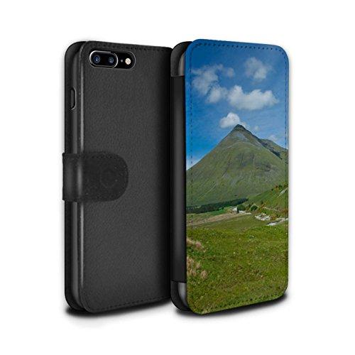 Stuff4 Coque/Etui/Housse Cuir PU Case/Cover pour Apple iPhone 7 Plus / Cascade/Flux Design / Campagne Écossais Collection Montagne