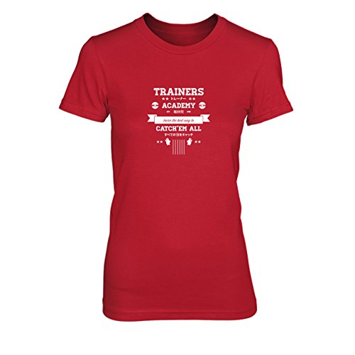 Trainers Academy - Damen T-Shirt, Größe: XL, Farbe: (Kostüm Pokemon Rote Trainer)