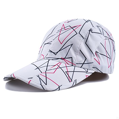 White Camo Hats,Camouflage Caps Breathable Running Quick Dry Folding Brim Hat Under...