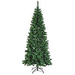 Homcom, albero di Natale slim da 210 cm con 631 rami