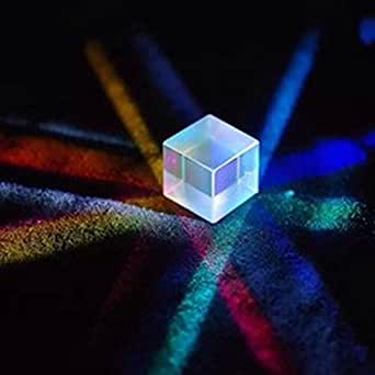 Askliy Physik Lehre Präzision optisch Glas Prisma 20 * 20 * 20mm