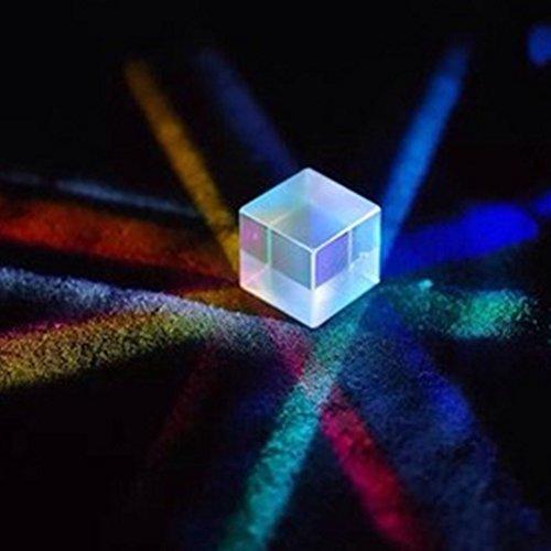 Askliy Physik Lehre Präzision optisch Glas Prisma 20 * 20 * 20mm - Prisma Lampe