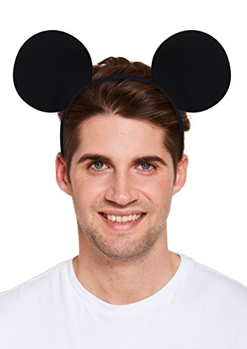(Mickey Maus Ohren Hirsch Do Night schwarz Haarband Herren Jungen Fancy Dress Zubehör)