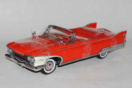 Sun Star Plymouth Fury Open Cabrio 1960 Rot 1/18 Modell Auto mit individiuellem Wunschkennzeichen - Plymouth Auto Modelle