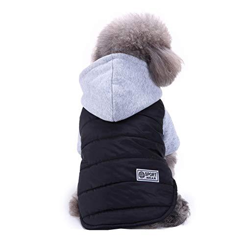 Bluelucon Hundeweihnachts Mantel Haustier Hund in Santa Kostüm-Ausstattungs Anzug Mit LED Licht