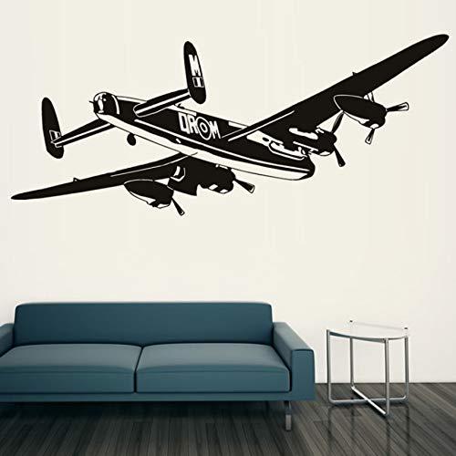 Zxdcd Hochwertige Schlafzimmer Dekorative Bomber Flugzeug Wandaufkleber Schwarz Vinyl Removable Transport Home Decor
