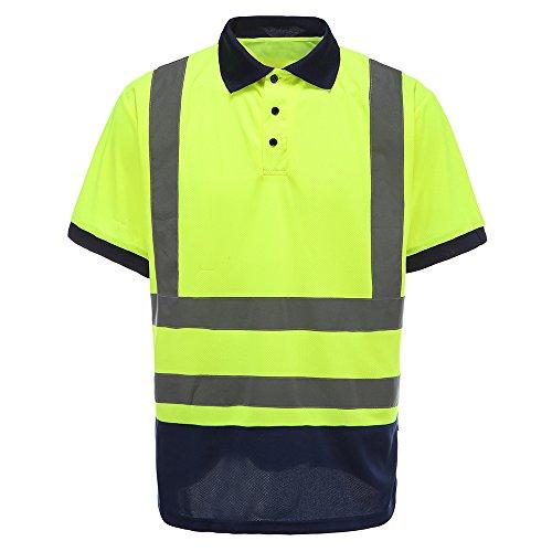 Aykrm catarifrangente, maglietta polo VIZ visibilità–lavoro maglietta polo ad alta visibilità, catarifrangente, (3x L)
