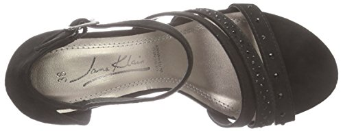 Jane Klain - 283 745, Scarpe col tacco con cinturino a T Donna Nero (Schwarz (Black 009))