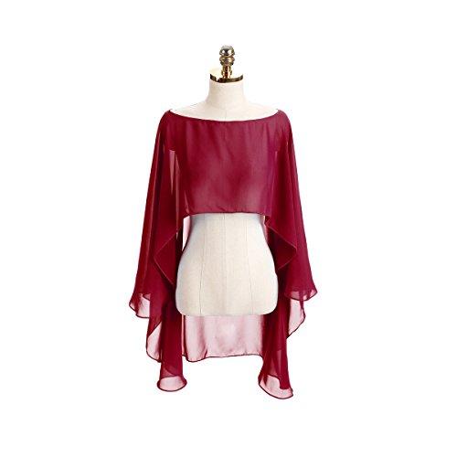 CoCogirls Chiffon Stola Schal für Kleider in verschiedenen Farben zu jedem Brautkleid - Abendkleid,...