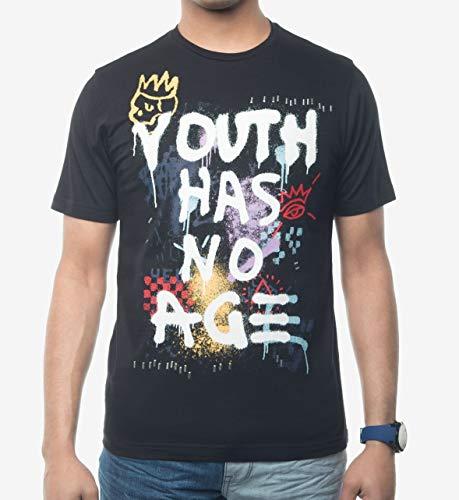 Youth Graphic T-shirt (Sean John Herren T-Shirt Youth Has No Age Graphic Print Jugend - Schwarz - X-Groß)