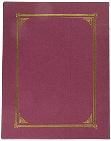 Geographics Certificate/Document Cover, Linen Stock, Burgundy, Six per Pack