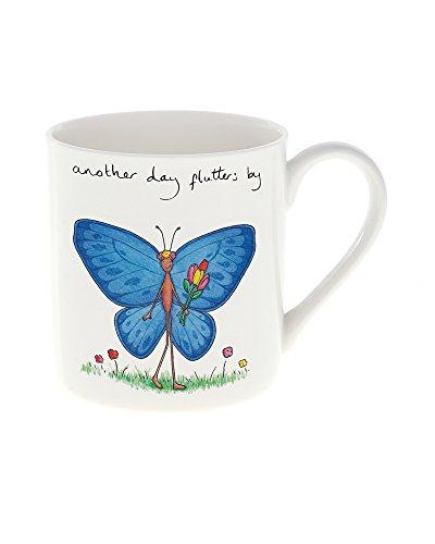 Flutter Butterfly Garden (Cockadoodle Tasse, Handbemalt, mit Schriftzug
