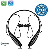 Techfire HBS 730 Wireless Neckband Bluetooth Earphone Headset Earbud Portable Headphone Handsfree Sports Running…