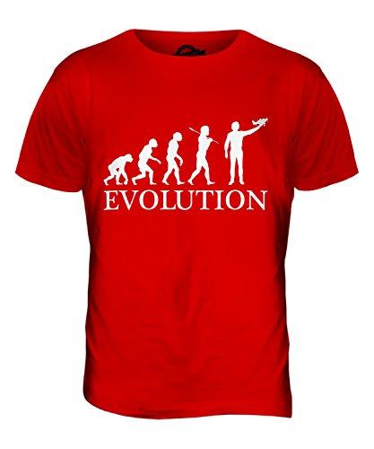 CandyMix Flugzeug Modell Evolution Des Menschen Herren T Shirt Rot