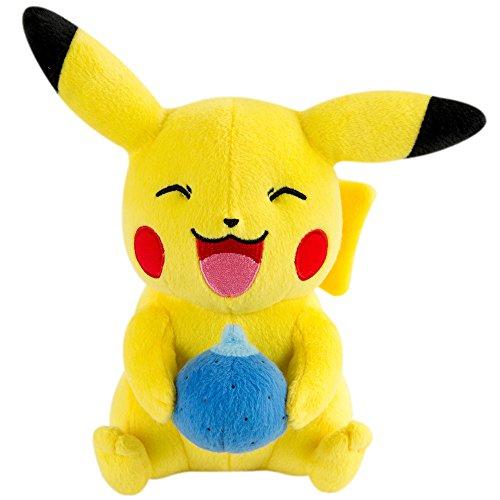 Pokmon-t19269-Tomy-Pikachu-de-Peluche-con-Oran-Berry-20-cm