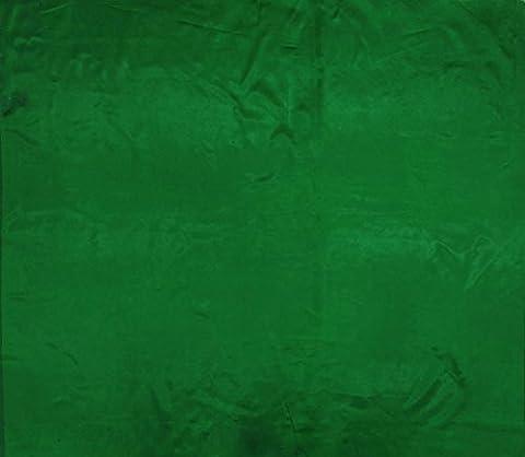 Satin de soie Mélange tissu vert brillant Tissus Dressmaking Solide Couture au mètre