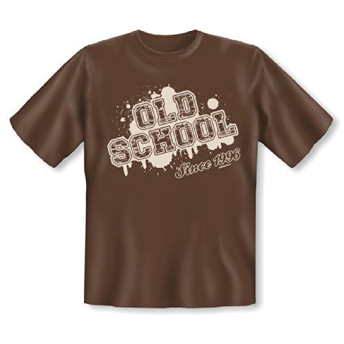 T-Shirt zum 18. Geburtstag! Old School Since 1996! 18 Jahre! Tolles Geschenk zum 18ten! Braun