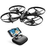 Potensic Drone avec Caméra HD et Télécommande RC Quadcopter WiFi FPV 2.4Ghz 6-axe Gyro - Maintien d'altitude, Mode sans Tête, Décollage/Atterrissage à Une Touche