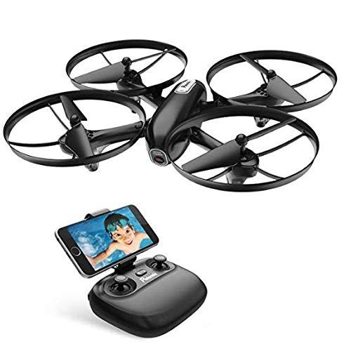 Potensic Drone avec Caméra HD et Télécommande RC Quadcopter WiFi FPV 2.4Ghz 6-axe Gyro - Maintien d'altitude, Mode sans Tête, Décollage/Atterrissage à Une Touche 3 Vitesses Réglage