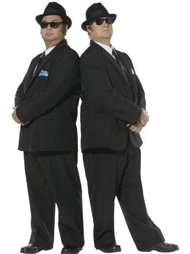 Karneval Herren Kostüm Blues Brothers schwarzer Anzug aus Film (Halloween Blues Kostüme Brothers)