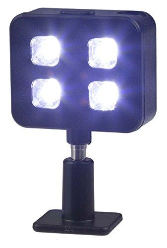 Kitvision Universal LED Selfie Blitzlicht Plug-In Wiederaufladbarer Blitz kompatibel mit Apple und Android Smartphones und Tablets, Kompaktkameras, DSLR-Kameras und Bridgekameras - Schwarz