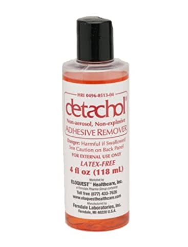 Detachol Adhesive Remover Latex-Free 4oz Bottle - 1/Each by Ferndale
