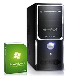 Silent office PC! CSL Sprint H5231u (Dual) incl. Windows 7 - dual core computer system with AMD Athlon A4-5300 APU 2x 3400 MHz, 500GB HDD, 4GB DDR3 RAM, ASUS Mainboard, Radeon HD 7480 - For reliable usage