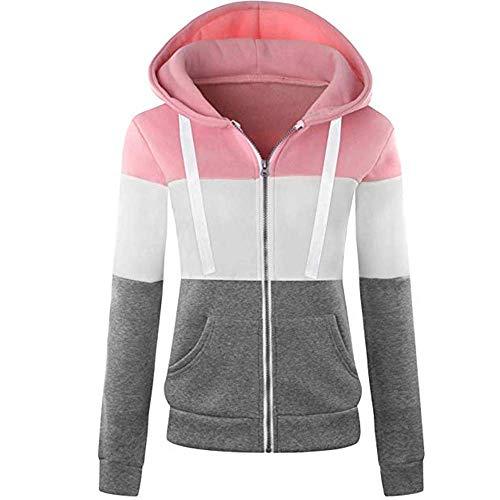 Newbestyle Jacke Damen Sweatjacke Hoodie Sweatshirtjacke Pullover Oberteile Kapuzenpullover -