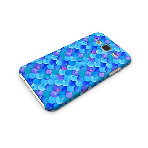 Cover Affair Fish Scales Printed Designer Slim Light Weight Back Cover Case for Samsung Galaxy J7 2015 Edition