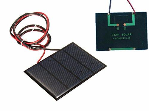 Descripción: 12V 1.5W Panel Solar Alta tasa de conversión, salida de alta eficiencia Excelente efecto de luz débil Adecuado para cargar teléfonos móviles y baterías pequeñas de DC Construir tu DIY alimentado modelos, pantalla solar, juguetes solares ...