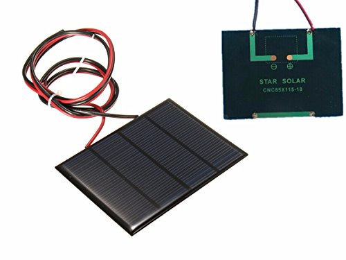 Bluelover 12V 1,5 W Mini Solar Panel Small Cell Modul Epoxy Charger With 1 M Welding Wire