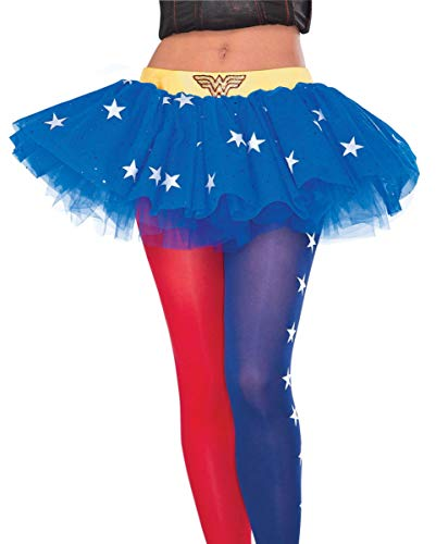 Horror-Shop DC-Comics Wonder Woman Petticoat für Cosplay & Halloween (Kostüm Tutu Wonder Woman)