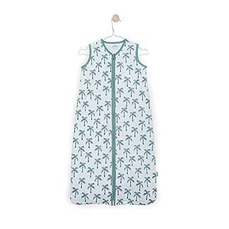 Jollein 048–529–65118Saco de dormir Verano Jersey Palmtree, 110cm, color verde