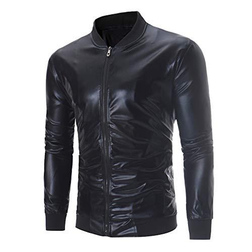 Setsail Herren Frühling Fit Langarm Helles Gesicht Gedruckt Party Jacke Retro Jacke Outwear Top Bluse (Gedruckt Jacken Anzug)