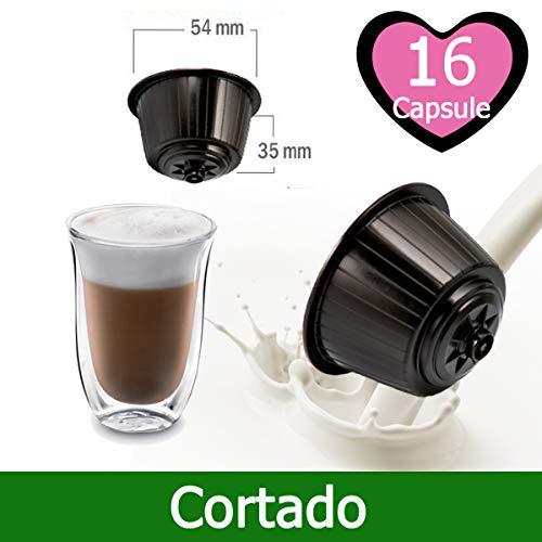 16 Capsule Caffè Cortado Compatibili Nescafè Dolce Gusto