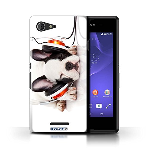 Kobalt® Imprimé Etui / Coque pour Sony Xperia E3 / Chien ridicule conception / Série Animaux comiques Chien somnolent