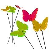 Cepewa Sonnenfänger Blumenstecker Lichtfänger Schmetterling sortiert Deko Material Schmetterling: fluoreszierendes