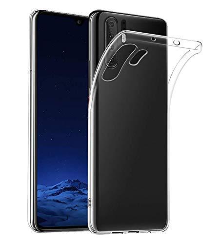 AOBOK Coque Huawei P30 Pro, Crystal Clear Ultra Fine Silicone Coque, TPU Bumper Housse Etui Premium Anti Choc Case pour...