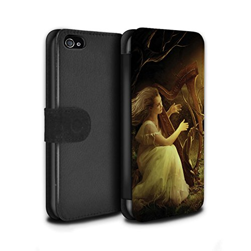 Officiel Elena Dudina Coque/Etui/Housse Cuir PU Case/Cover pour Apple iPhone 4/4S / Pack 6pcs Design / Réconfort Musique Collection Mélodie du Silence