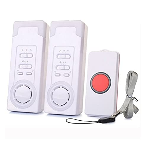 Wireless Caregiver,BOIRBlue Smart Caregiver Personal Pager System Emergency Care Alarm Call Button Nurse Alert System -500+ft Operating Range (2 in