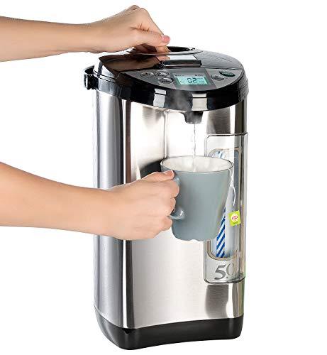 Rosenstein & Söhne Wasserkocher-Thermopot: Heißwasserspender, 5-Liter-Wassertank, 5 Temperaturstufen, 1.200 Watt (Heißwasserautomat)