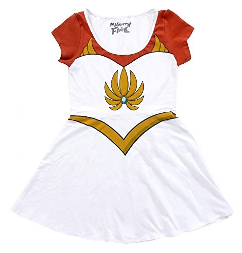 I Am She-Ra Princess Of Power Junioren Weiß Kostüm Skater-Kleid | XL (She Ra Kostüm Kostüm)