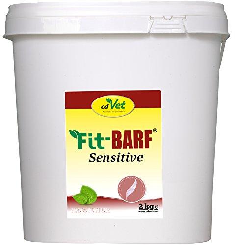 cdVet Naturprodukte Fit-BARF Sensitive 2 kg - Hund&Katze - getreidefrei - ausgeglichene Ernährung bei Rohfütterung - Bauchspeicheldrüsen-, Nieren-, Leber-, Reduktionsdiäten - Vitamine - BARFEN -