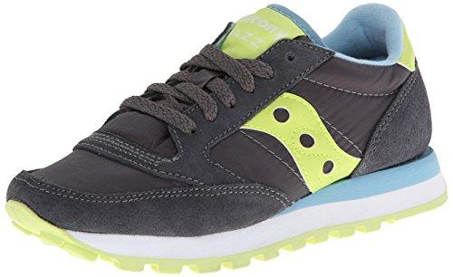 Saucony Jazz Original unisex adulto, pelle scamosciata, sneaker bassa Charcoal/light Green